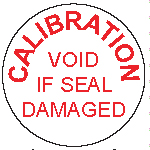 Calibration void seal
