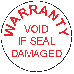 Warranty void seal